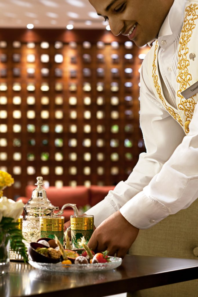 Service at the Raffles Makkah Palace hotel